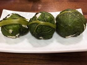 野沢菜のまきまきおにぎり