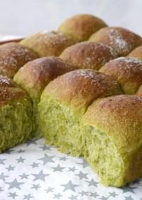 粉末青汁で抹茶パン風★ちぎりパン