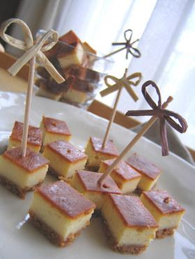 おみやげ&ピンチョス☆チーズケーキ