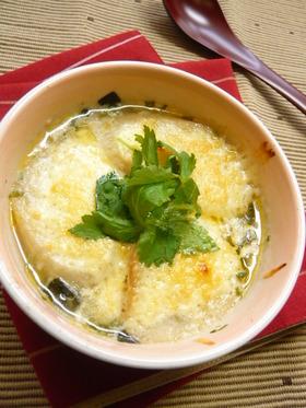 簡単!松茸の味お吸いものでグラタンスープ