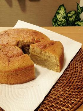ワンボウルで紅茶の焼き蒸しケーキ