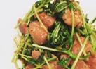 牛モモ肉と豆苗の中華炒め