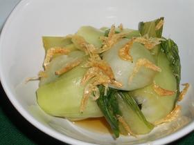 めんつゆで☆青梗菜と桜海老のレンジ煮