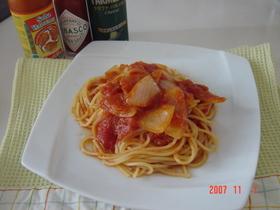 10分トマトパスタ