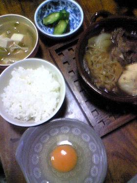 すき煮鍋で美味しいご飯食べましょうw