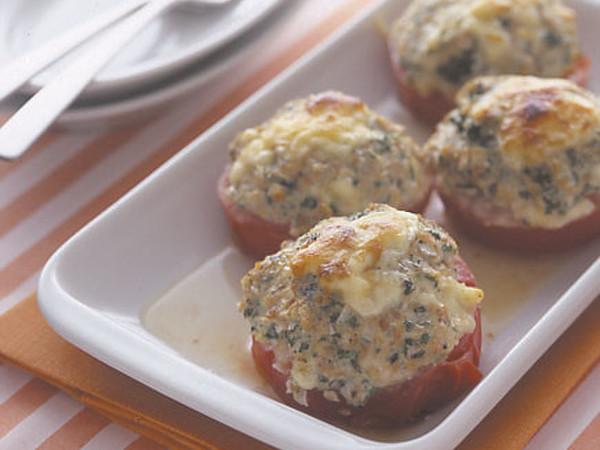 トマトの肉詰めチーズ焼き