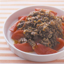 生トマトの焼き肉のせ