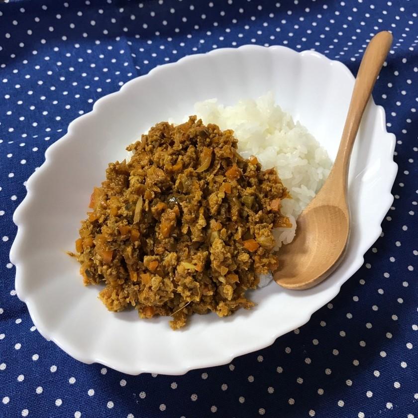 肉なし冷凍豆腐のドライカレー