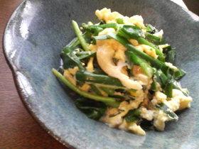 ニラの卵とじ❤松茸の味お吸いもので!