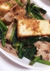 簡単!小松菜と絹厚揚げの和風炒め