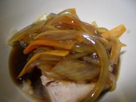 缶詰で簡単♪さば水煮の和風野菜あんかけ