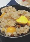 ニンニクと鶏きんかんの炊き込みご飯:-)
