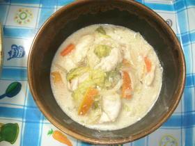白菜ささみの味噌クリーム煮