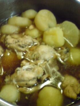 簡単!圧力鍋で手羽と大根の煮物