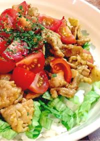 タコライス風☆カレー豚丼