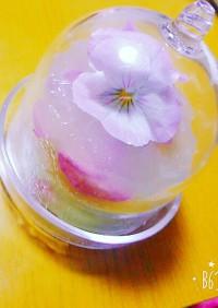 エディブルフラワーの抹茶ババロア