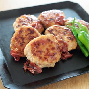 豆腐入りふわふわ鶏つくね 梅照り焼き