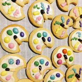 絵の具パレットのクッキー