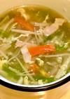 えのきとレタスの☆ふんわり卵スープ