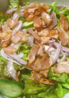 ベーコンサニーレタスのサラダ