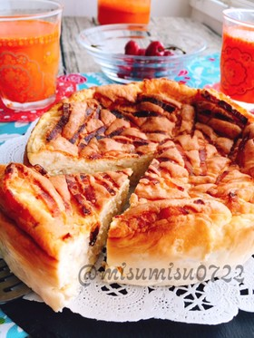 ベーコンとカマンベールのチーズケーキサレ