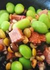 ミートローフと豆サラダ