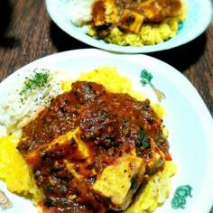 小松菜と豆腐のインドカレー