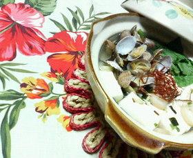 松茸味✿簡単❀ヘルシー✿浅蜊&豆腐1人鍋