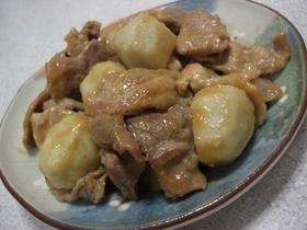 すぐできる☆里芋と豚肉の味噌炒め♪