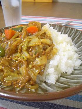 水なし☆白菜の和風カレー