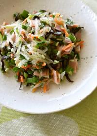 糸寒天の野菜炒め