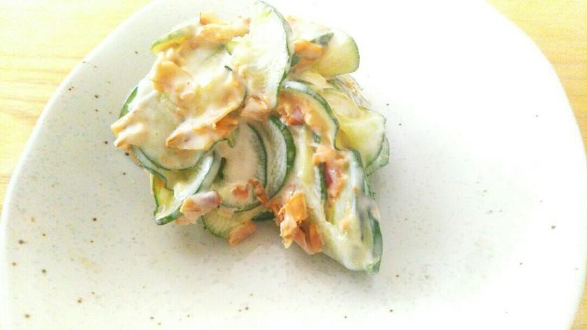 簡単!きゅうりと鰹節のマヨサラダ