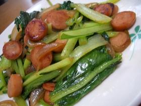簡単!!小松菜とウィンナーソテー