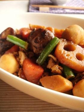 豚と野菜のポン味噌煮