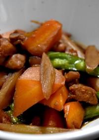 鶏肉とごぼうの簡単煮物