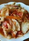 ローソンのカット野菜と鶏胸肉の適当炒め