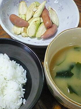 マコモダケの炒め物
