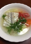 ヒラメのアラのスープ
