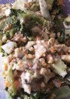 ブロッコリーとシーチキンと卵のサラダ