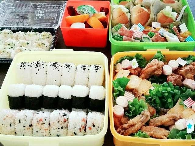 小学校運動会お弁当(´ч`)و今年は素麺