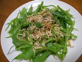 水菜とちりめんのサラダ