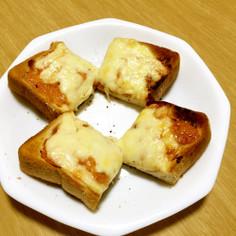 節約!マヨ塩辛のチーズトースト