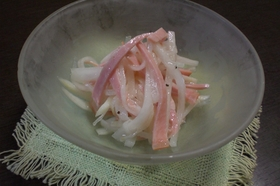 大根とハムの酸っぱい(>_<)サラダ