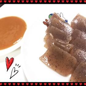 節約♡手作り辛子酢味噌で刺し身こんにゃく