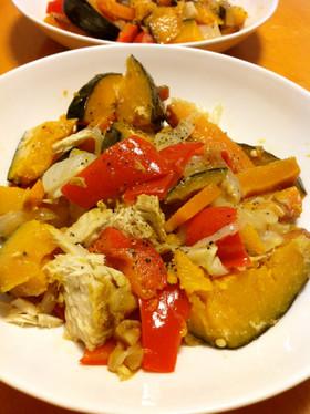 炊飯器で完成!4種野菜と鰹の温マリネ