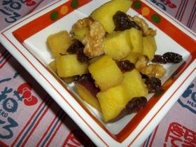 ✿薩摩芋と胡桃とレーズンの❀バター醤油味