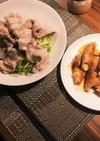豚しゃぶサラダと豚肉エリンギ巻