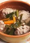 豚ひき肉とニラの☆肉団子スープ