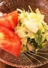 レタスと水菜のツナマヨサラダ♪