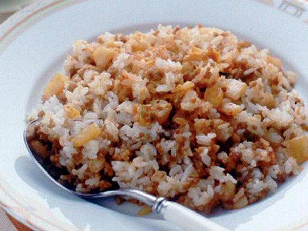 ひき肉とキムチの炒飯